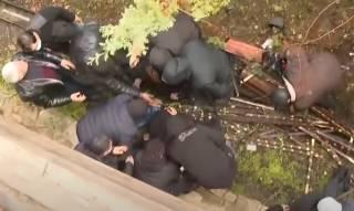 Появилось видео драки священников и верующих в Грузии