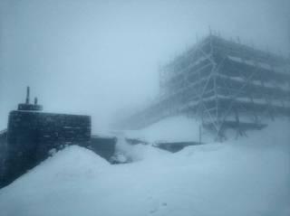 Ночью Карпаты изрядно занесло снегом