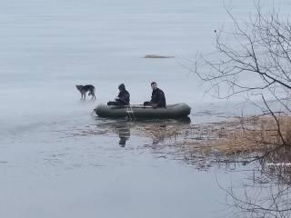 Под Харьковом собака неделю плавала на льдине