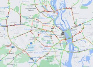 Локдаун парализовал движение в Киеве