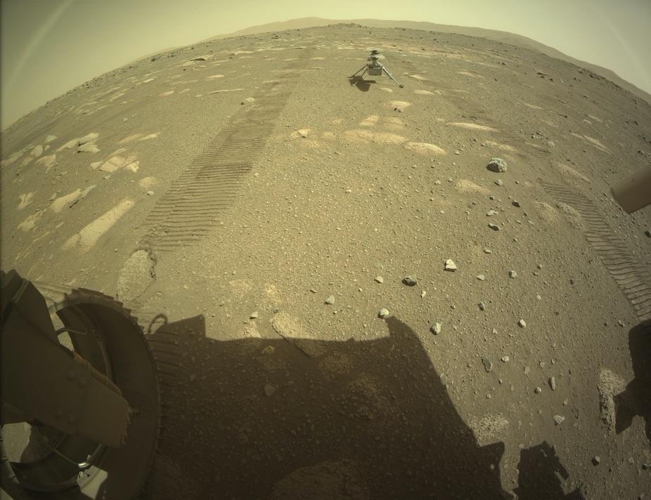 Мини-коптер Ingenuity высадился на Марсе