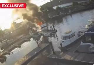 Мощный взрыв на яхте в Австралии попал на видео