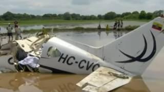 Появилось видео с места авиакатастрофы в Эквадоре