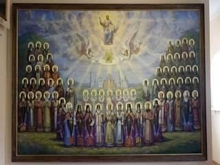 В музее истории Полтавской епархии УПЦ создали панно Собора Полтавских святых