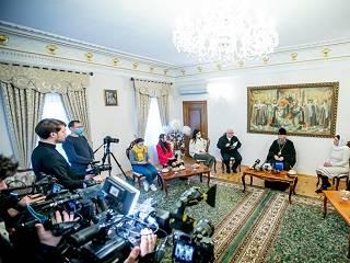 Митрополит Антоний встретился с журналистами центральных СМИ