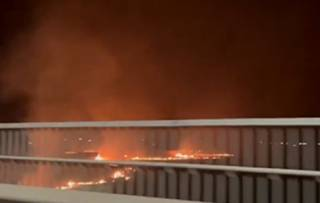 Появилось видео грандиозного огненного ЧП в Харьковской области