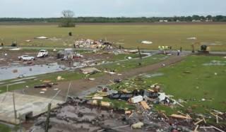 Опубликовано видео последствий торнадо на побережье Мексиканского залива