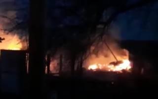 В российском селе сгорели пятеро детей: опубликовано видео пожара