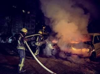 В Киеве снова горели автомобили