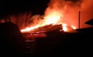 Появилось видео пожара в одном из монастырей Казахстана
