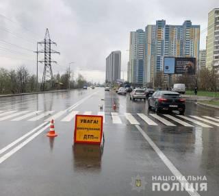В Киеве маршрутка насмерть сбила пожилую женщину на пешеходном переходе
