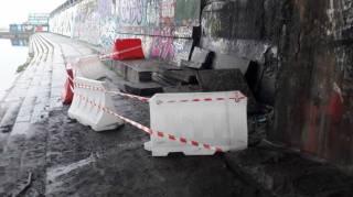 В Сети говорят о разрушении конструкции моста Метро. В «Киевавтодоре» все опровергают