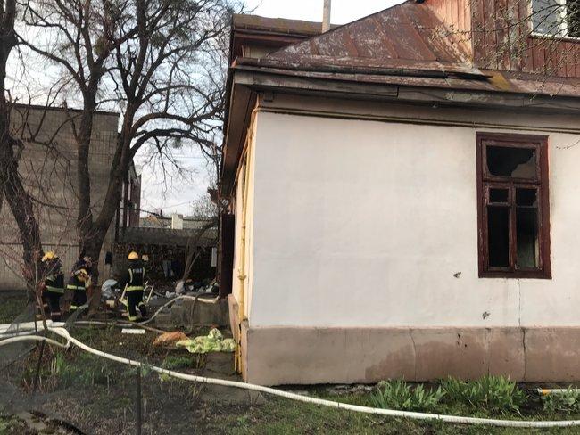 Место пожара в Луцке