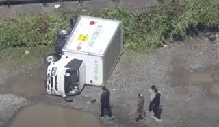 Появилось видео последствий мощнейшего торнадо в Японии