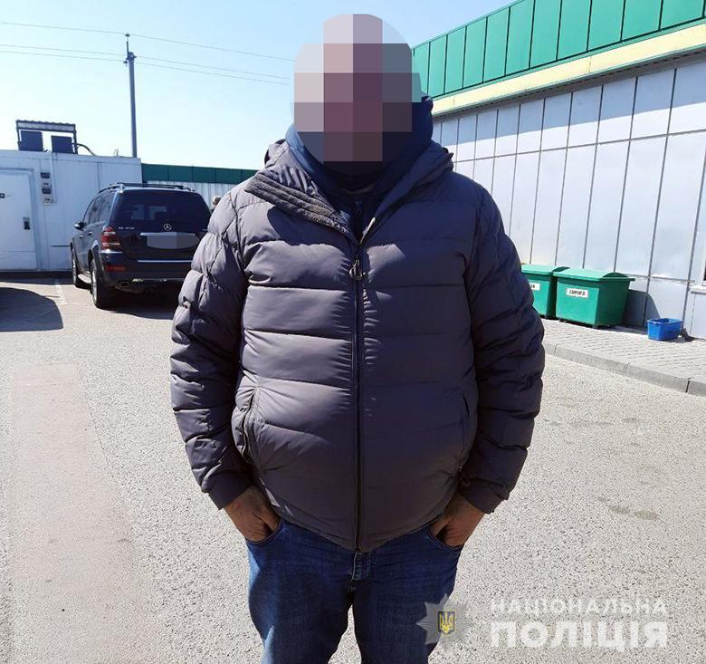 Грабитель, задержанный в Одессе