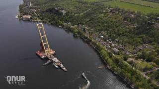 У берегов Запорожья получил повреждение один из самых крупных плавучих кранов Европы