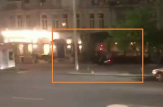 Появилось видео погони киевских полицейских за курьером, который был под амфетамином