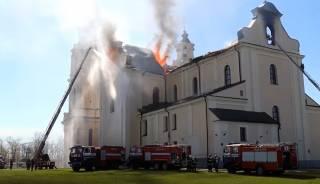 В Беларуси горел известный костел