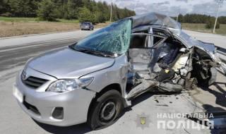 Грузовик раздавил авто с двумя журналистами НТН на трассе под Полтавой