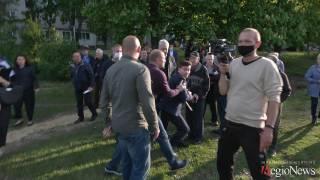 Появилось видео, как мэрская охрана в Харькове напала на журналиста