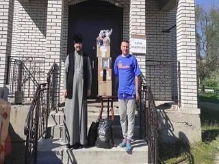 Священник Бориспольской епархии УПЦ передал продукты питания в зону ООС