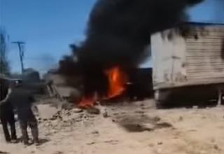 Появилось видео с места крушения военного самолета в Лас-Вегасе