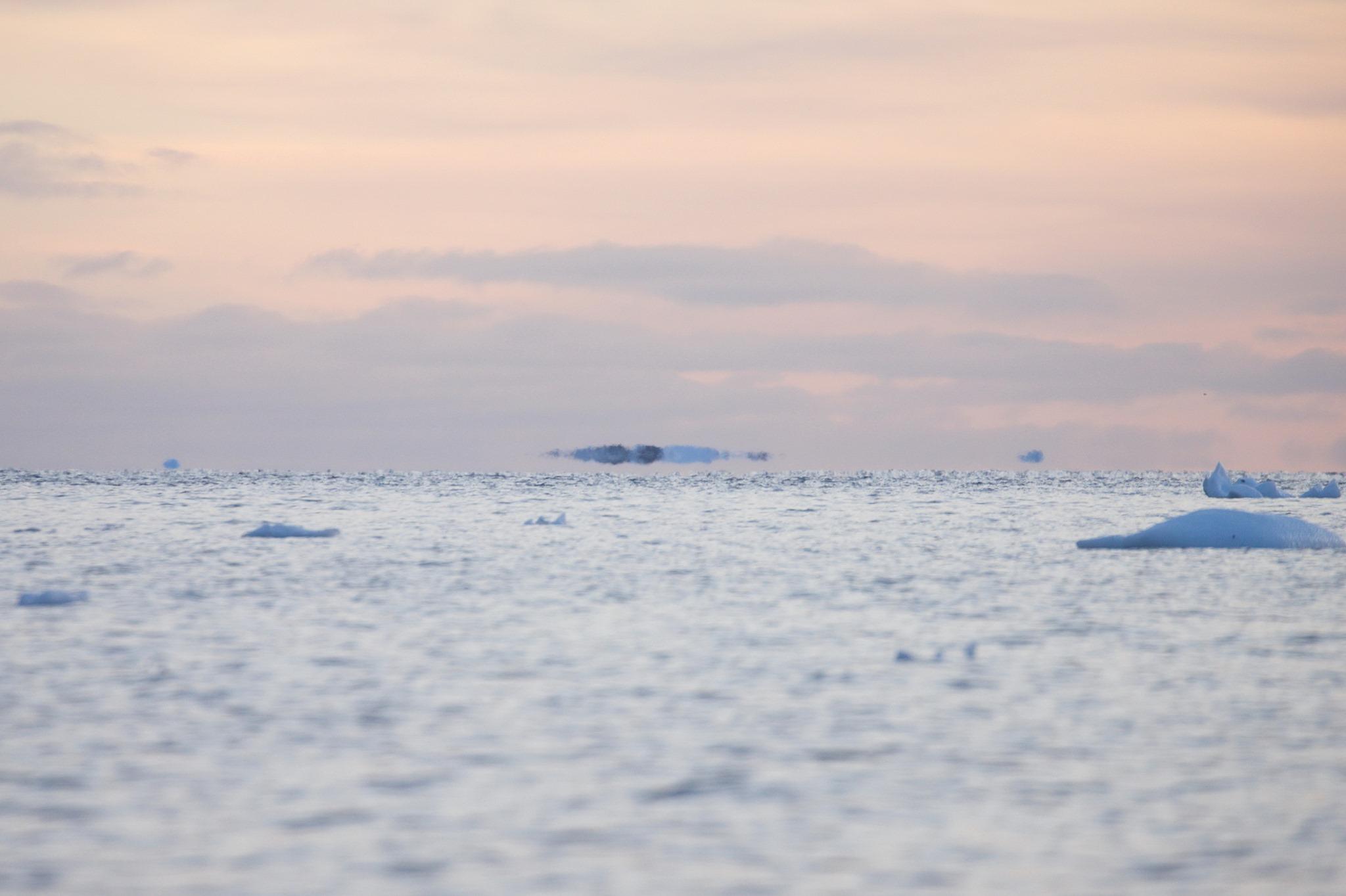 Фата-моргана в небе над Антарктикой
