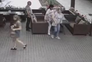 Опубликовано видео падения дерева на летнее кафе в Полтаве