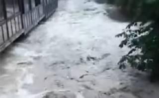 Появилось видео наводнения в Ялте