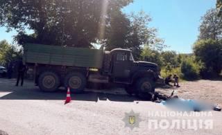 ДТП на Прикарпатье: ЗИЛ сбил мотоцикл – погибли два человека