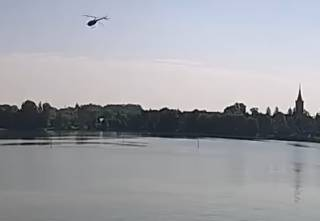 Опубликовано видео падения вертолета с украинцами в Польше