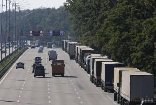 Киев ограничил въезд грузовиков