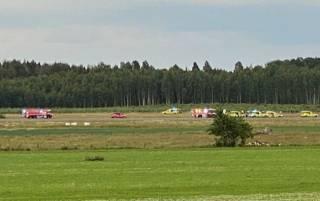 В Швеции сразу после взлета разбился самолет
