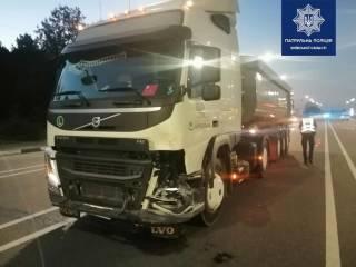 Смертельное ДТП под Киевом: мопед попал под грузовик