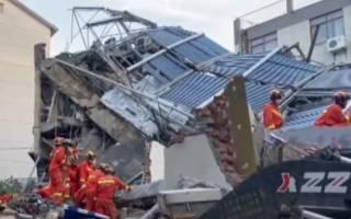 Появилось видео с места обрушения отеля в Китае – погибло немало людей