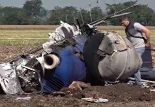 Появилось видео с места крушения вертолета под Николаевом