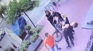 Момент избиения танцора Нади Дорофеевой попал на видео. Нападавшему светит солидный срок