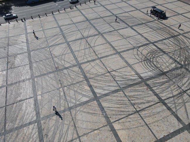 Результаты дрифта ReBull на Софийской площади в Киеве