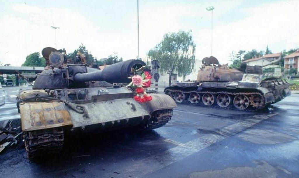 сожженные танки