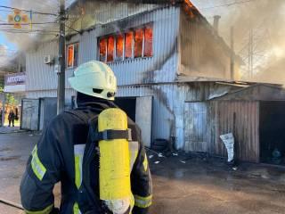 В Киеве произошел гигантский пожар