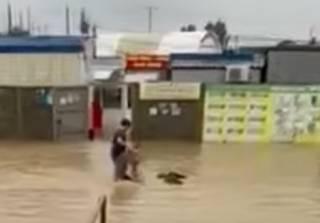 Сильные ливни затопили Керчь