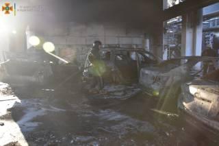 В Одессе горел заброшенный завод