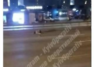 В Киеве мужчина неудачно попытался перебежать через проспект с 10-полосным движением