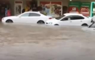 Появилось видео наводнения в Симферополе