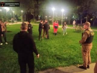 В киевском парке две пьяные компании устроили грандиозную драку. Есть пострадавшие