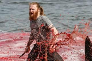 На одном из пляжей Фарерских островов местные жители устроили настоящий дельфиний геноцид