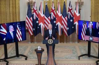 США, Великобритания и Австралия договорились дружить против Китая