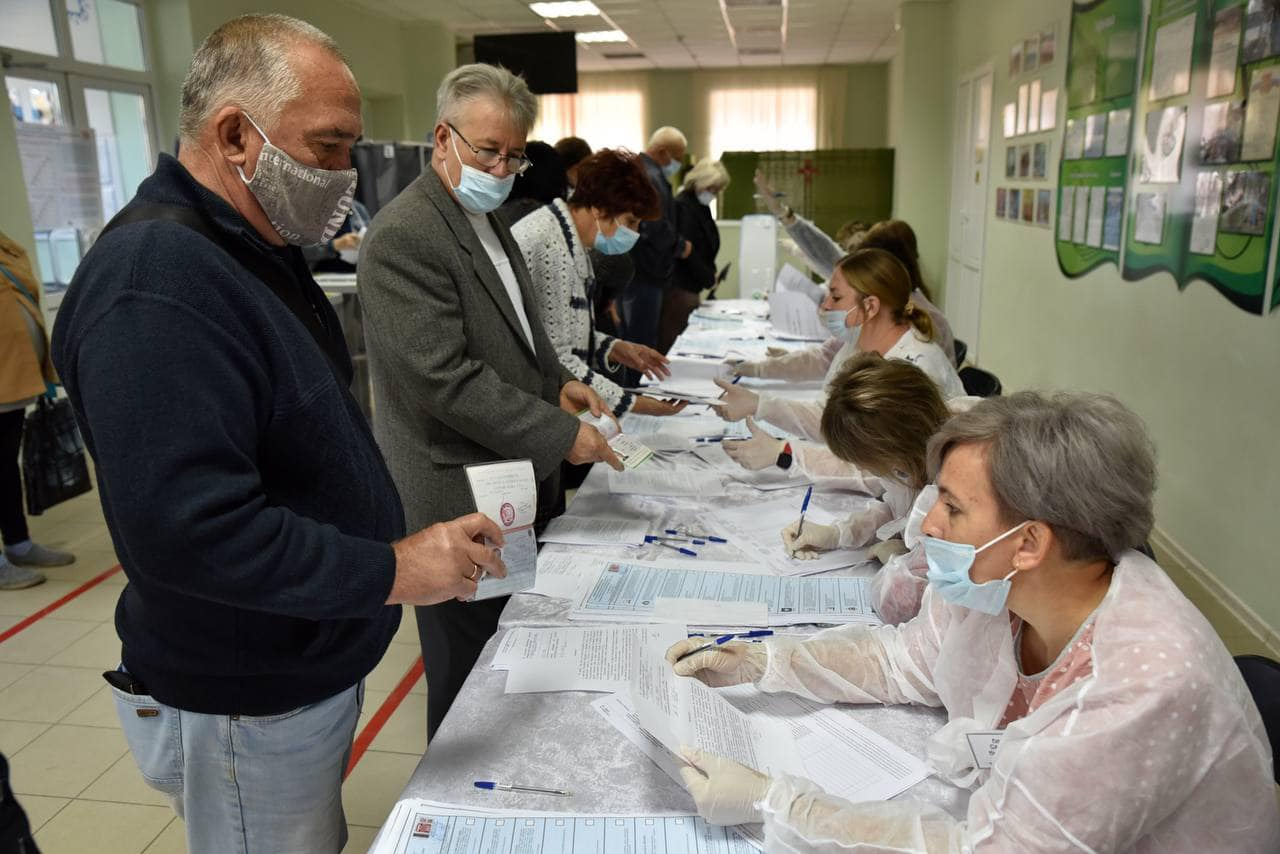 Жители оккупированных территорий Украины принимают участие в выборах в Госдуму РФ
