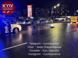 Опубликовано видео с места смертельного ДТП в Киеве
