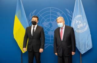 Зеленский передал генсеку ООН список незаконных украинских заключенных